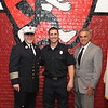 Chief Robert Sideleau FF John Williams and Mayor Dean Mazzerella - John got the FF of the year award.