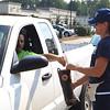 Firefighter Brenda Bruer collects for MDA. SENTINEL & ENTERPRISE/SCOTT LAPRADE