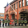 Leominster Fire Department firefigthers take a moment to remember 9/11. SENTINEL & ENTERPRISE/SCOTT LAPRADE