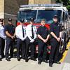 Leomnister welcomes 6 new firefighters and their first FF Memorial Sunday L-R Adam Garabedian, Marcus Burnett, Adam Cordio, Matt Nelson, Dan Gaughan and Dillion Jones SENTINEL&ENTERPRISE/Scott LaPrade
