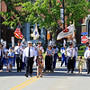 Firefighters march back to the firehouse with the families SENTINEL&ENTERPRISE/Scott LaPrade