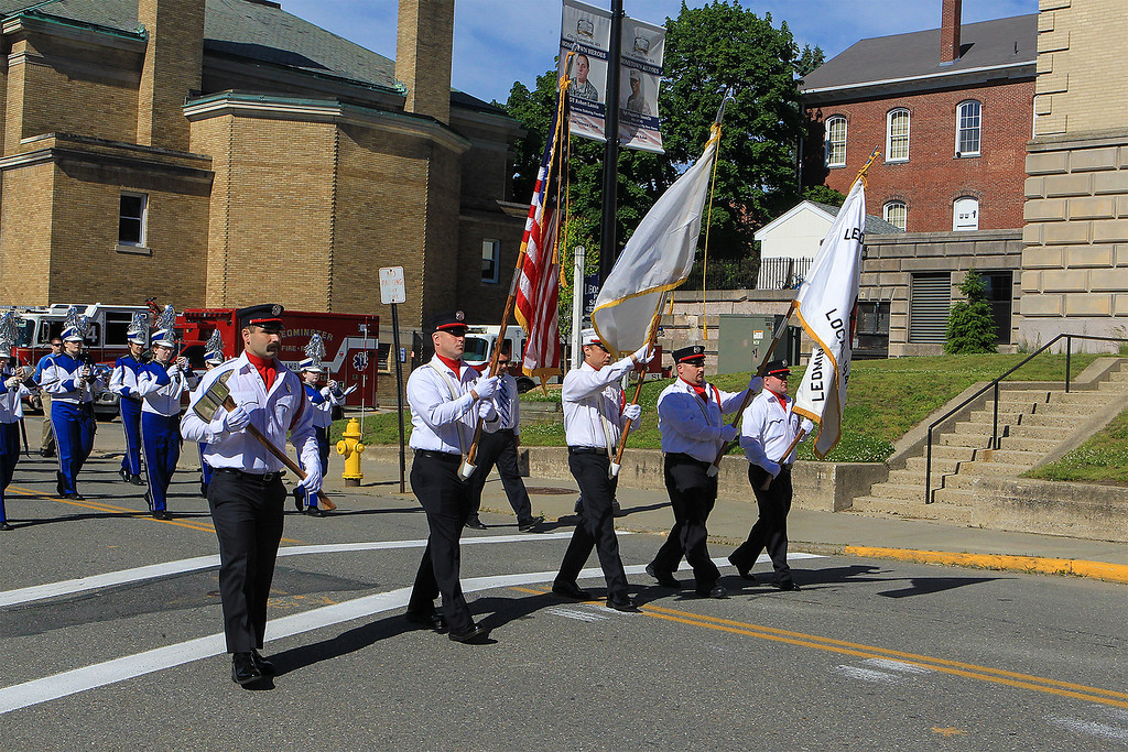 . Leominster Firefighters honor guard SENTINEL&ENTERPRISE/Scott LaPrade