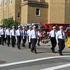 Leominster Firefighters march to the memorial<br /> SENTINEL&ENTERPRISE/Scott LaPrade