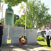 Ff Robert Penning Pres Leom Ff Relief Association and Chief Robert Sideleau II salute those that have past