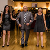 City Councilor James Lanciani is escorted by Natalia Oliver and Marina Proietti during the Leominster Gents, Putting on the Threads Fashion Show at City Hall on Thursday evening. SENTINEL & ENTERPRISE / Ashley Green