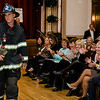 Firefighter Jon Williams models during the Leominster Gents, Putting on the Threads Fashion Show at City Hall on Thursday evening. SENTINEL & ENTERPRISE / Ashley Green