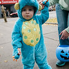 Aden Fenwick, 2, participates in downtown trick-or-treating in Leominster on Saturday afternoon. SENTINEL & ENTERPRISE / Ashley Green