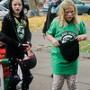 Lyra Harper, 10, and Willow Harper, 8, participate in downtown trick-or-treating in Leominster on Saturday afternoon. SENTINEL & ENTERPRISE / Ashley Green