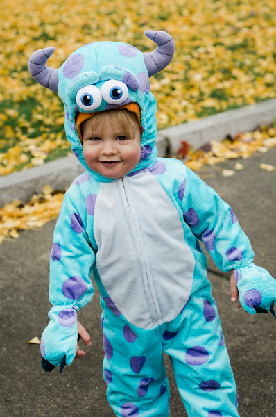 Weston Cypull, 1, participates in downtown trick-or-treating in Leominster on Saturday afternoon. SENTINEL & ENTERPRISE / Ashley Green