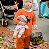 Carolyn Parse, 1,  participates in downtown trick-or-treating in Leominster on Saturday afternoon. SENTINEL & ENTERPRISE / Ashley Green