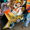 Aaron Mallette, 3, participates in downtown trick-or-treating in Leominster on Saturday afternoon. SENTINEL & ENTERPRISE / Ashley Green