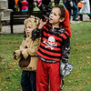 Lincoln Walsh, 4, and Amelia, 2, participate in downtown trick-or-treating in Leominster on Saturday afternoon. SENTINEL & ENTERPRISE / Ashley Green