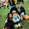 Kiara Miranda, 6, Mariah Diaz, 9, Benjamin Diaz, 1, and Julian Booth participates in downtown trick-or-treating in Leominster on Saturday afternoon. SENTINEL & ENTERPRISE / Ashley Green