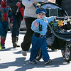 The annual Halloween parade was held in downtown Leominster on Saturday, Oct. 19, 2019. Justin Gilmour, 3, from Leominster waves to people as he walks in the parade. SENTINEL & ENTERPRISE/JOHN LOVE