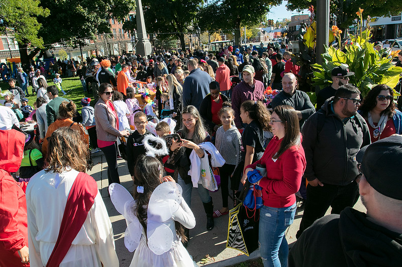 The annual Halloween parade was held in downtown Leominster on Saturday, Oct. 19, 2019. Many dressed up for the event. SENTINEL & ENTERPRISE/JOHN LOVE
