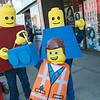 The annual Halloween parade was held in downtown Leominster on Saturday, Oct. 19, 2019. This family from Athol dressed like a Lego family. Pictured is David Mallette, Danielle Rouleau and their son Aaron Mallette, 6. SENTINEL & ENTERPRISE/JOHN LOVE