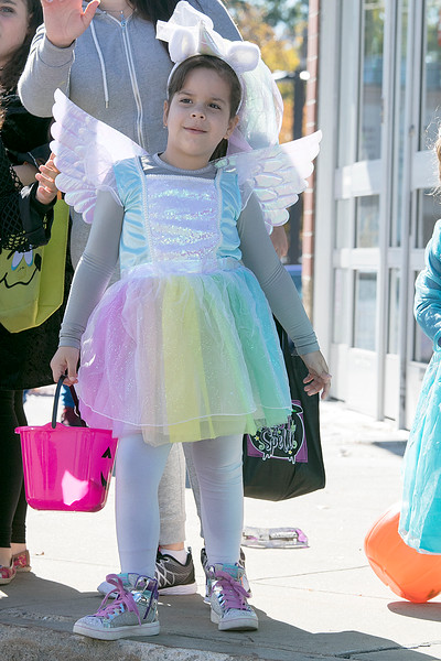 The annual Halloween parade was held in downtown Leominster on Saturday, Oct. 19, 2019. Julia Carvalho, 5, watches the parade. SENTINEL & ENTERPRISE/JOHN LOVE
