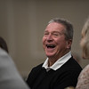 Roger Mercier laughs along with other hall of fame inductee's during the seventh annual Leominster Football Hall of Fame Dinner and Induction ceremony on Saturday November 19, 2016 at the Double Tree in Leominster.  (Sentinel & Enterprise photo/Jeff Porter)