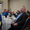Douglas McIntosh sits at his table after he gives his 2016 Hall of Fame induction speech during the seventh annual Leominster Football Hall of Fame Dinner and Induction ceremony on Saturday November 19, 2016 at the Double Tree in Leominster.  (Sentinel & Enterprise photo/Jeff Porter)