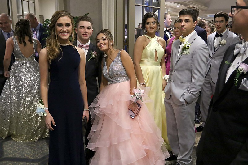 Leominster High School held its prom at the DoubleTree by Hilton Hotel Leominster on Saturday night, May 12, 2018. SENTINEL & ENTERPRISE/JOHN LOVE