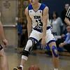 Leominster High School boys basketball played Groton Dunstable Regional High School on Friday night, Jan. 10, 2020 in Leominster. LHS's #23 Derrick Thomas. SENTINEL & ENTERPRISE/JOHN LOVE