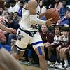 Leominster High School boys basketball played Groton Dunstable Regional High School on Friday night, Jan. 10, 2020 in Leominster. LHS's #4 Jamamiah Paulino. SENTINEL & ENTERPRISE/JOHN LOVE