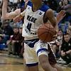 Leominster High School boys basketball played Groton Dunstable Regional High School on Friday night, Jan. 10, 2020 in Leominster. LHS's #4 Jeramiah Paulino. SENTINEL & ENTERPRISE/JOHN LOVE
