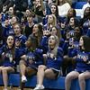 Leominster High School boys basketball played Groton Dunstable Regional High School on Friday night, Jan. 10, 2020 in Leominster. LHS's cheerleaders. SENTINEL & ENTERPRISE/JOHN LOVE