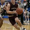 Leominster High School boys basketball played Groton Dunstable Regional High School on Friday night, Jan. 10, 2020 in Leominster. GDRHS's #4 Kyle Plausse. SENTINEL & ENTERPRISE/JOHN LOVE