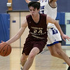 Leominster High School boys basketball played Groton Dunstable Regional High School on Friday night, Jan. 10, 2020 in Leominster. GDRHS's #24 Joe O'Malley. SENTINEL & ENTERPRISE/JOHN LOVE
