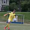 Leominster High School boys soccer played Nashoba Regional High School on Wednesday, September 4, 2019 at Doyle Field in Leominster. NRHS's goalie Thiago Delmonego. SENTINEL & ENTERPRISE/JOHN LOVE