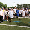 Leominster high School class of 2018 held their 148th commencement on Saturday, June 2, 2018. The LHS Chorus performs the national anthem at the start of the ceremony. SENTINEL & ENTERPRISE/JOHN LOVE