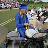 Leominster high School class of 2018 held their 148th commencement on Saturday, June 2, 2018. Playing the drums with the LHS Jazz Band is graduate Jared Lanteigne. SENTINEL & ENTERPRISE/JOHN LOVE