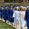 Leominster high School class of 2018 held their 148th commencement on Saturday, June 2, 2018. Graduates march onto the football field to start the ceremony. SENTINEL & ENTERPRISE/JOHN LOVE