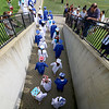 Leominster high School class of 2018 held their 148th commencement on Saturday, June 2, 2018. The graduates march out of the tunnel and on to the football field to start the ceremony. SENTINEL & ENTERPRISE/JOHN LOVE
