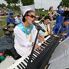 Leominster high School class of 2018 held their 148th commencement on Saturday, June 2, 2018. Singing and playing the keyboard with the LHS Jazz Band is graduate Jesse Blackman. SENTINEL & ENTERPRISE/JOHN LOVE