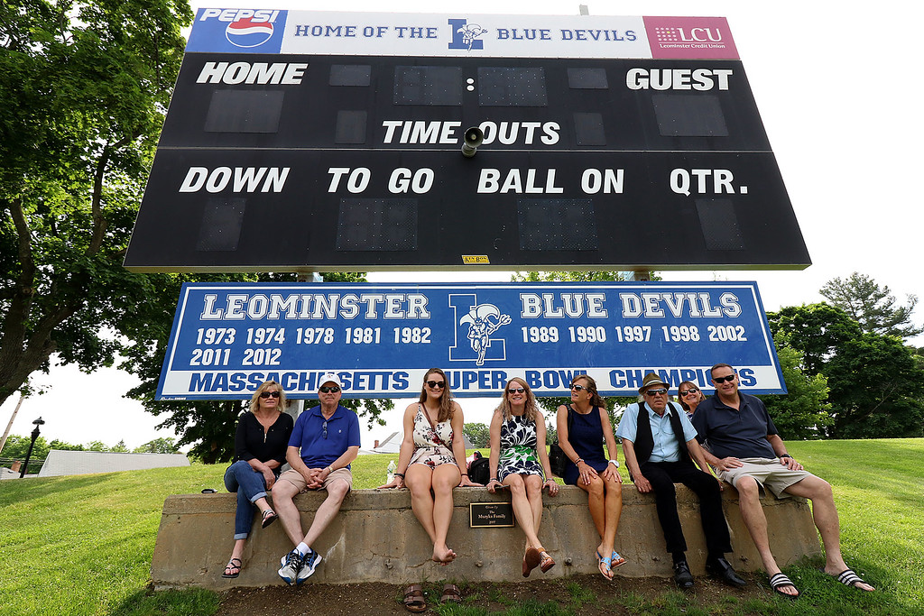 . Leominster high School class of 2018 held their 148th commencement on Saturday, June 2, 2018. This group was smart to find some shade for the graduation.  SENTINEL & ENTERPRISE/JOHN LOVE
