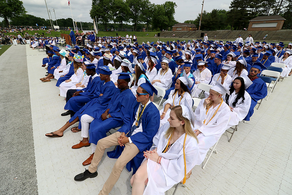 . Leominster high School class of 2018 held their 148th commencement on Saturday, June 2, 2018. SENTINEL & ENTERPRISE/JOHN LOVE