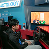 Students got to try out some driving while distracted at Leominster High School during the week of Feb. 10th to the 14th. Distractology set up in their parking lot for the kids. Trying out the simulator is senior Kobe Louangsabouth, 17.  SENTINEL & ENTERPRISE/JOHN LOVE