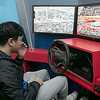 Students got to try out some driving while distracted at Leominster High School during the week of Feb. 10th to the 14th. Distractology set up in their parking lot for the kids. Trying out the simulator is senior Kobe Louangsabouth, 17.  He reacts to crashing during the test. SENTINEL & ENTERPRISE/JOHN LOVE