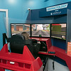 Students got to try out some driving while distracted at Leominster High School during the week of Feb. 10th to the 14th. Distractology set up in their parking lot for the kids. Trying out the simulator is senior Olivia Gallo, 18. SENTINEL & ENTERPRISE/JOHN LOVE