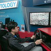 Students got to try out some driving while distracted at Leominster High School during the week of Feb. 10th to the 14th. Distractology set up in their parking lot for the kids. Trying out the simulator is senior Kobe Louangsabouth, 17.  He reacts to a crash. SENTINEL & ENTERPRISE/JOHN LOVE