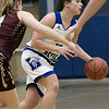 Leominster High School girls basketball played Algonquin Regional High School on Friday night, Jan. 31, 2020.  LHS's #30 Isabella Nevard. SENTINEL & ENTERPRISE/JOHN LOVE