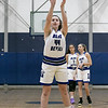 Leominster High School girls basketball played Algonquin Regional High School on Friday night, Jan. 31, 2020.  LHS's #44 Destina VivoAmore shoots a foul shot. SENTINEL & ENTERPRISE/JOHN LOVE