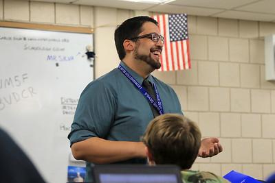 Leominster High School teacher Carlos Silva becomes a citizen, September 20, 2018