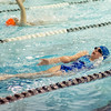 Leominster's Kaitlyn Swartz competes in the swim meet against Gardner at the Fitchburg State University Recreation Center on Thursday afternoon. SENTINEL & ENTERPRISE / Ashley Green