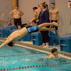 Leominster's Ben Szum competes in the swim meet against Gardner at the Fitchburg State University Recreation Center on Thursday afternoon. SENTINEL & ENTERPRISE / Ashley Green