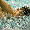 Leominster's Khoi Ton competes in the swim meet against Gardner at the Fitchburg State University Recreation Center on Thursday afternoon. SENTINEL & ENTERPRISE / Ashley Green