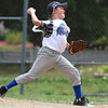 Lunenburg pitcher Hunter Matson winds up to deliver a pitch  against North Leominster at the Jimmy Fund playoff game on Saturday. SENTINEL & ENTERPRISE/JOHN LOVE