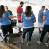 The annual Leominster Johnny Appleseed Craft Beer Festival was held Saturday, August 3, 2019. They had around 40 venders at the event with many of their beers. The Beer Crew checks people in. SENTINEL & ENTERPRISE/JOHN LOVE